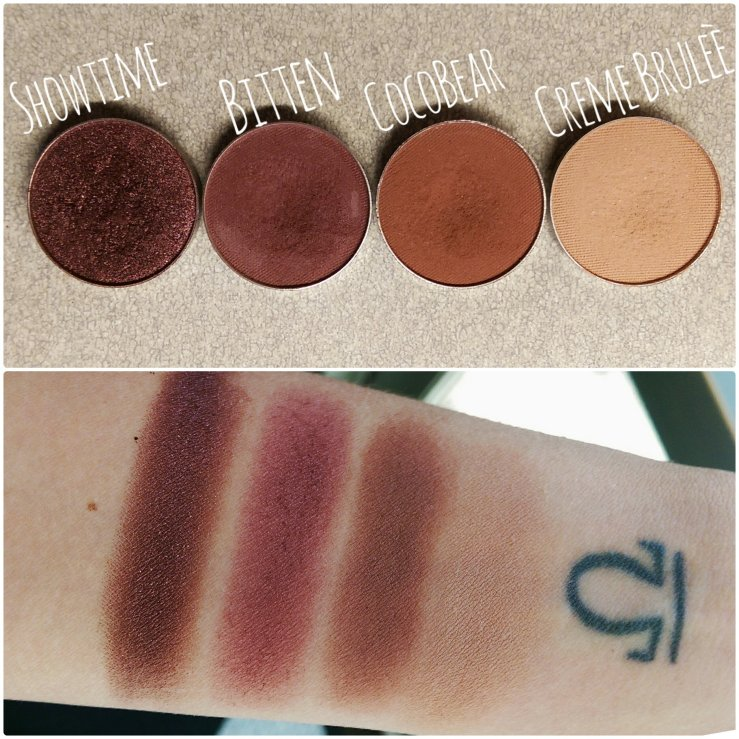 MakeupGeek Makeup Geek Cosmetics foiled shadows Spring Makeup swatches makeup MOTD coco bear makeupgeek bitten