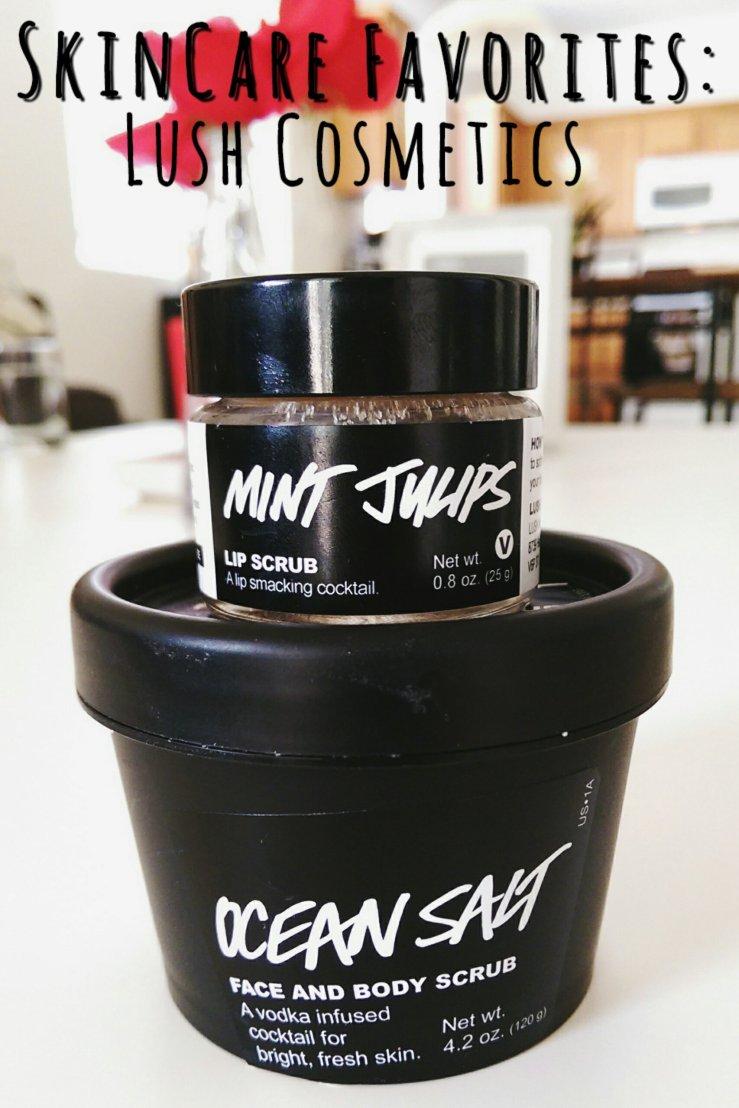 Lush Cosmetics cruelty-free handmade cosmetics Ocean Salt Scrub Lip Scrub Mint Julips bblogger