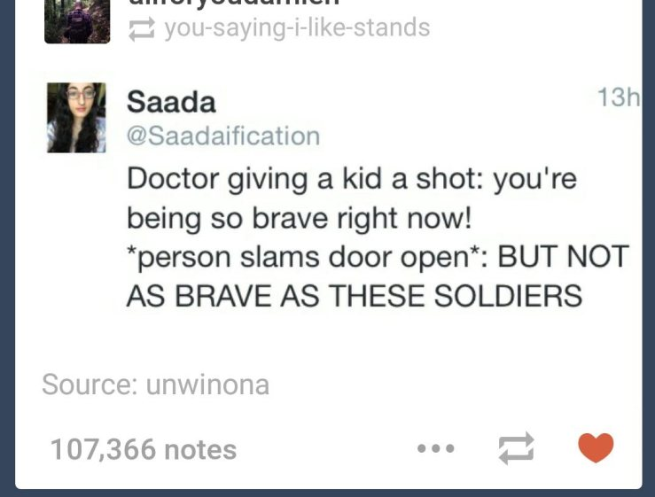 NOT AS BRAVE AS THESE SOLDIERS TUMBLR FTW