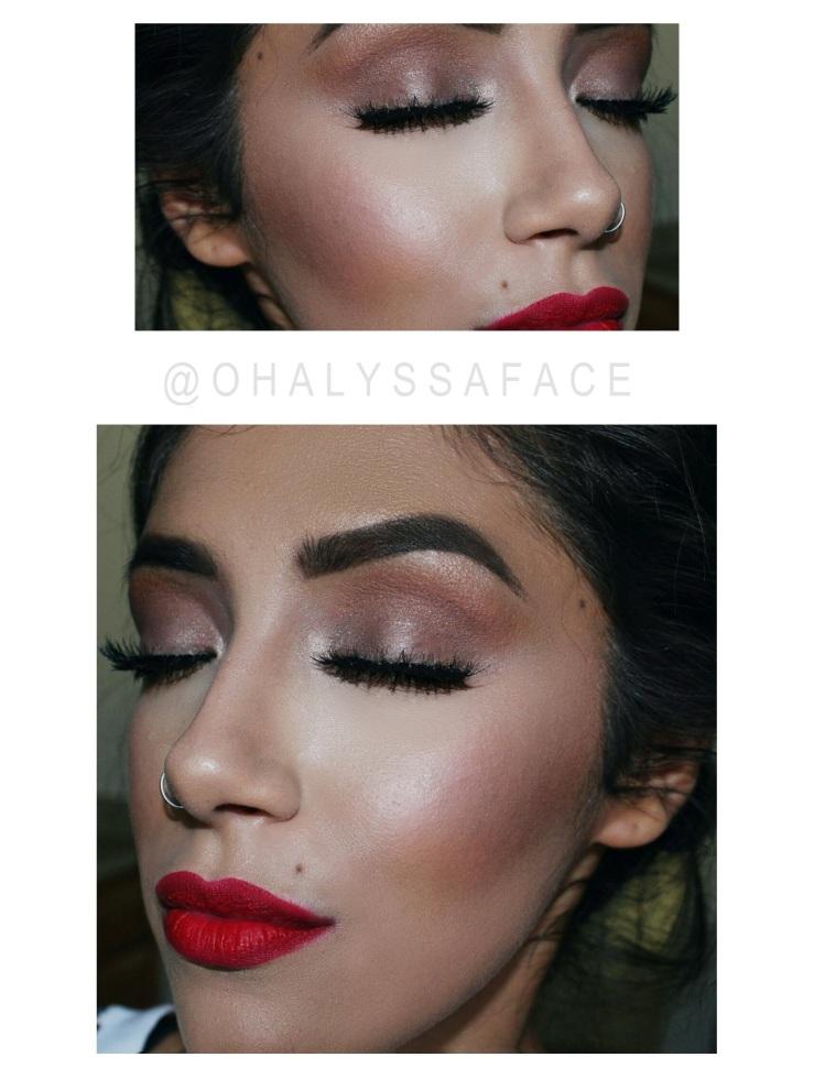 MOTD ColourPop Creeper Liquid Lipsticks Anastasia Dip Brow Dark Brown Strobing Summer Makeup Ardell Lashes