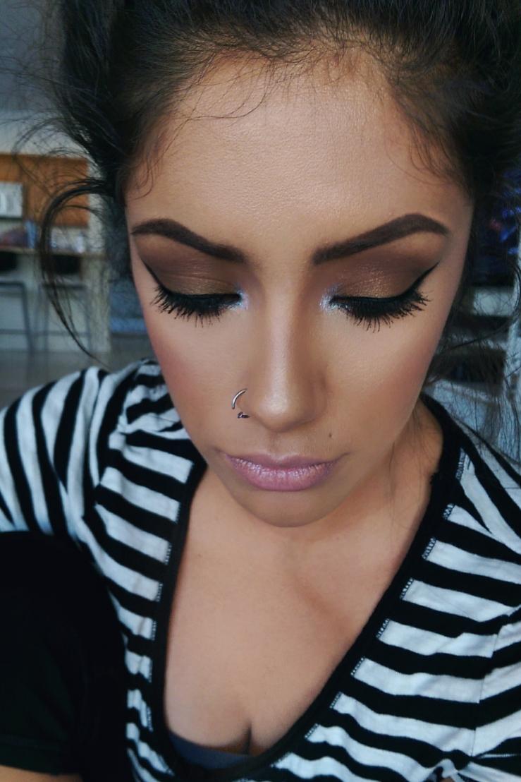 MOTD Fall Bronze Makeup Ohalyssaface Makeup MakeupGeek Duochrome Pigment Sugar Rush Ulta Petal Pink