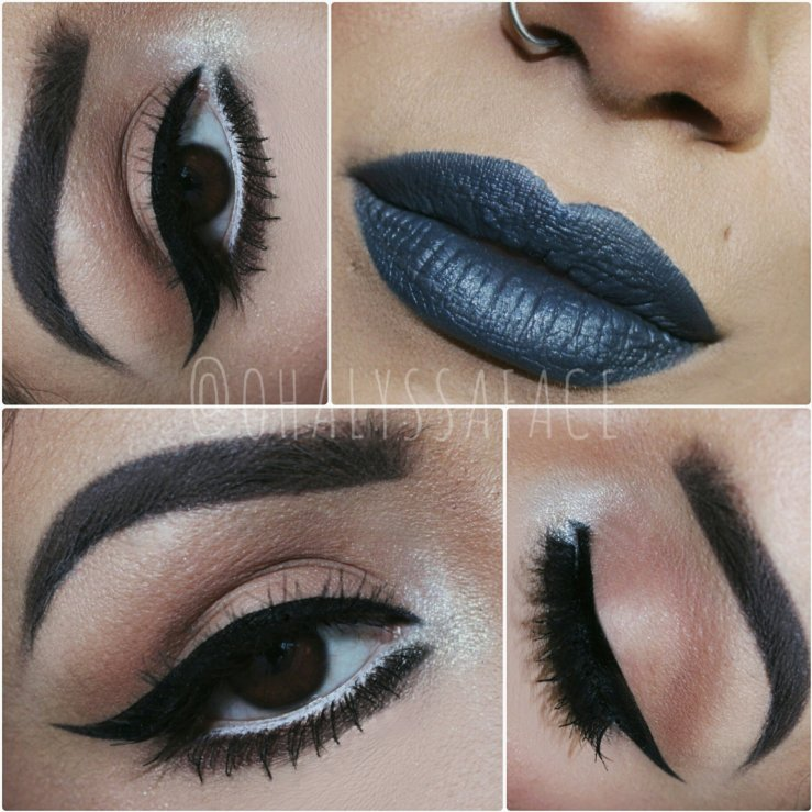 2016 Winter Makeup Nyx Cosmetics Stone Fox Suede Liquid Lipstick Ardell Lashes Ardell Double Wispie Lashes alyssakloves Makeup bblogger MakeupGeek