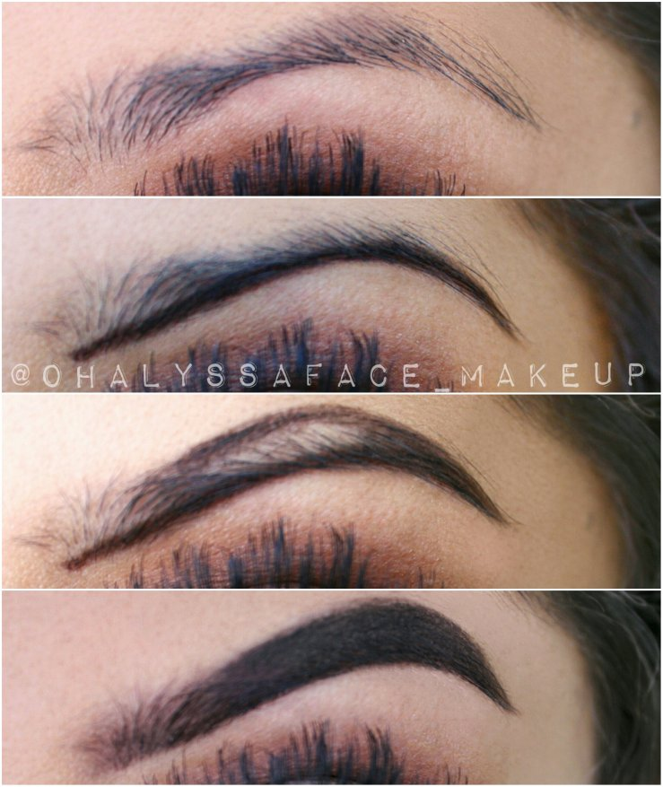 Brows Eyebrows Before and After How-To Brow Tutorial Brow Pictorial Ardell Brow Gel Makeup BBLOGGER Snatched Brows