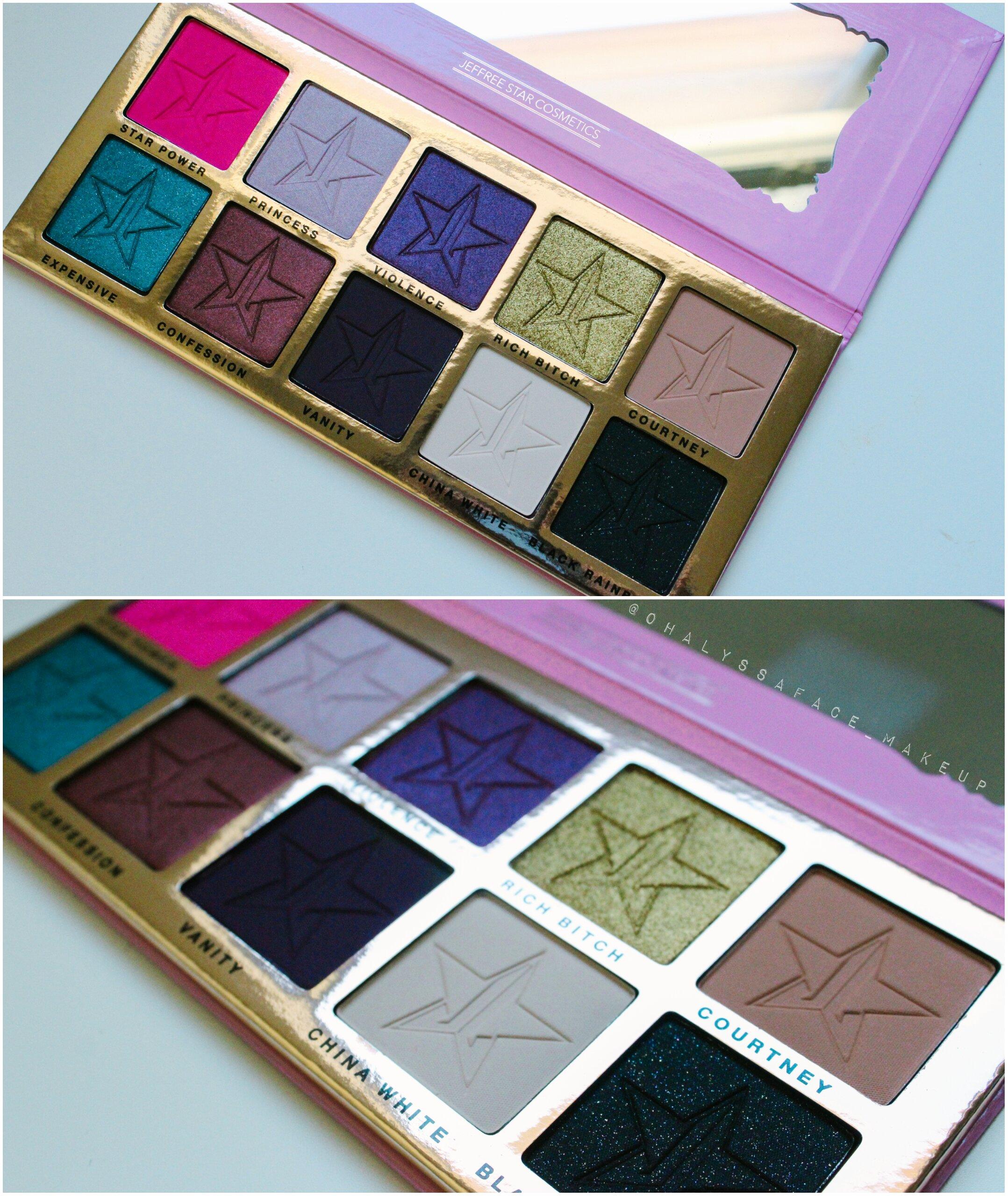 Beauty Killer Palette Jeffree Star Cosmetics Vegan Makeup Cruelty-Free Makeup Rich Bitch Jeffree Star Makeup Swatches