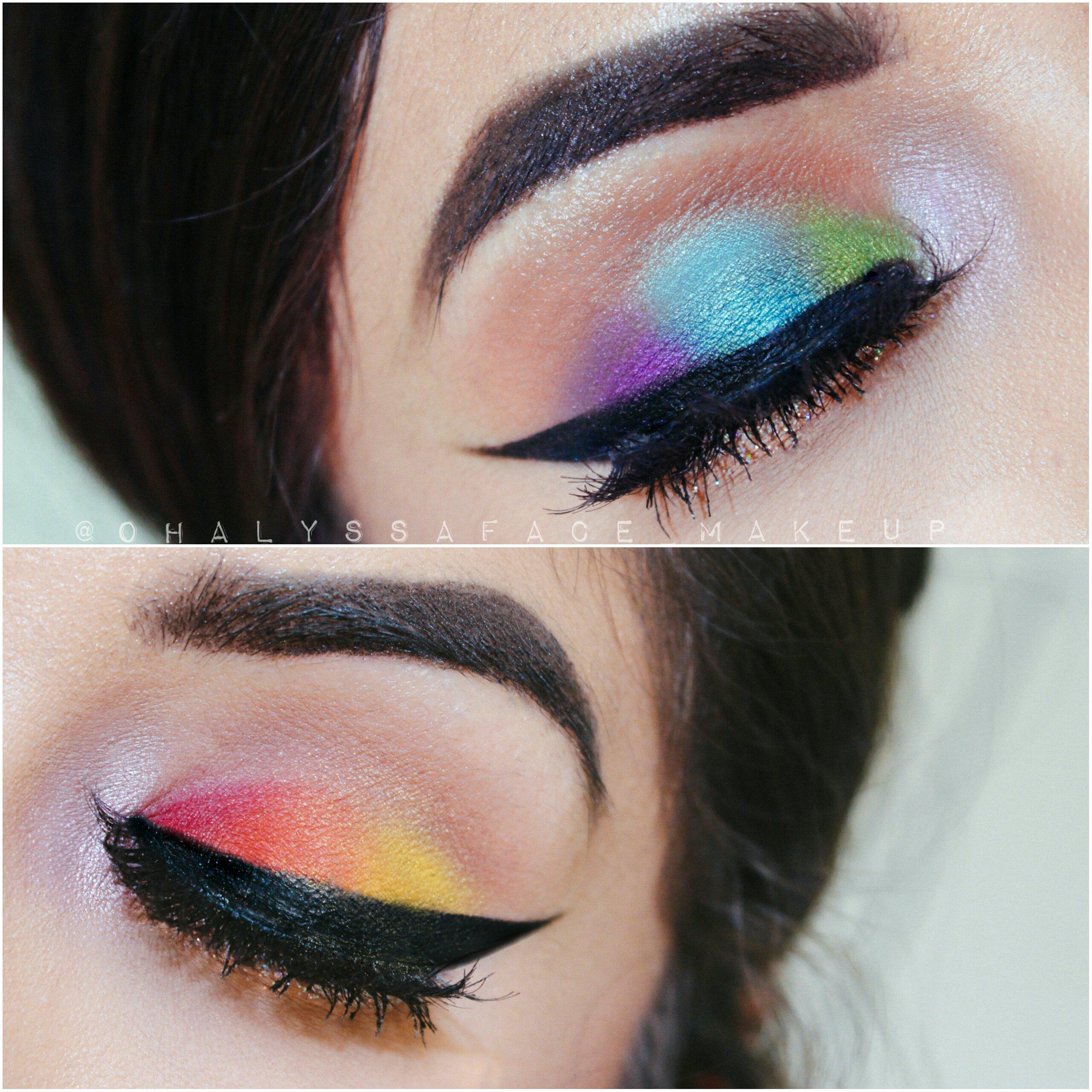 MakeupGeek Cosmetics Makeup Geek Shadows Rainbow Makeup Power of Makeup Makeup for Orlando Orlando Shooting Creative Makeup Pulse Shooting Koko Lashes LGBT