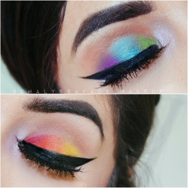 MakeupGeek Cosmetics Makeup Geek Shadows Rainbow Makeup Power of Makeup Makeup for Orlando Orlando Shooting Creative Makeup Pulse Shooting Koko Lashes LGBT