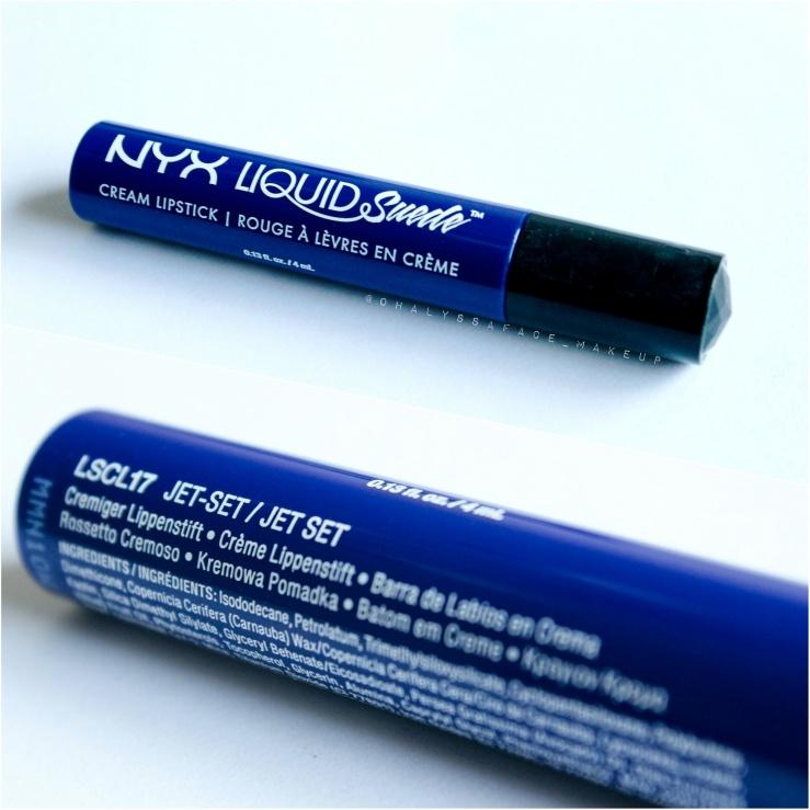 Nyx Cosmetics Cruelty-Free Makeup JETSET Jet Set Liquid Suede Cream Lipstick Blue Lipstick Candy-Apple Blue Wearable Be Bold Pride Blue Liquid Lips Travel Makeup