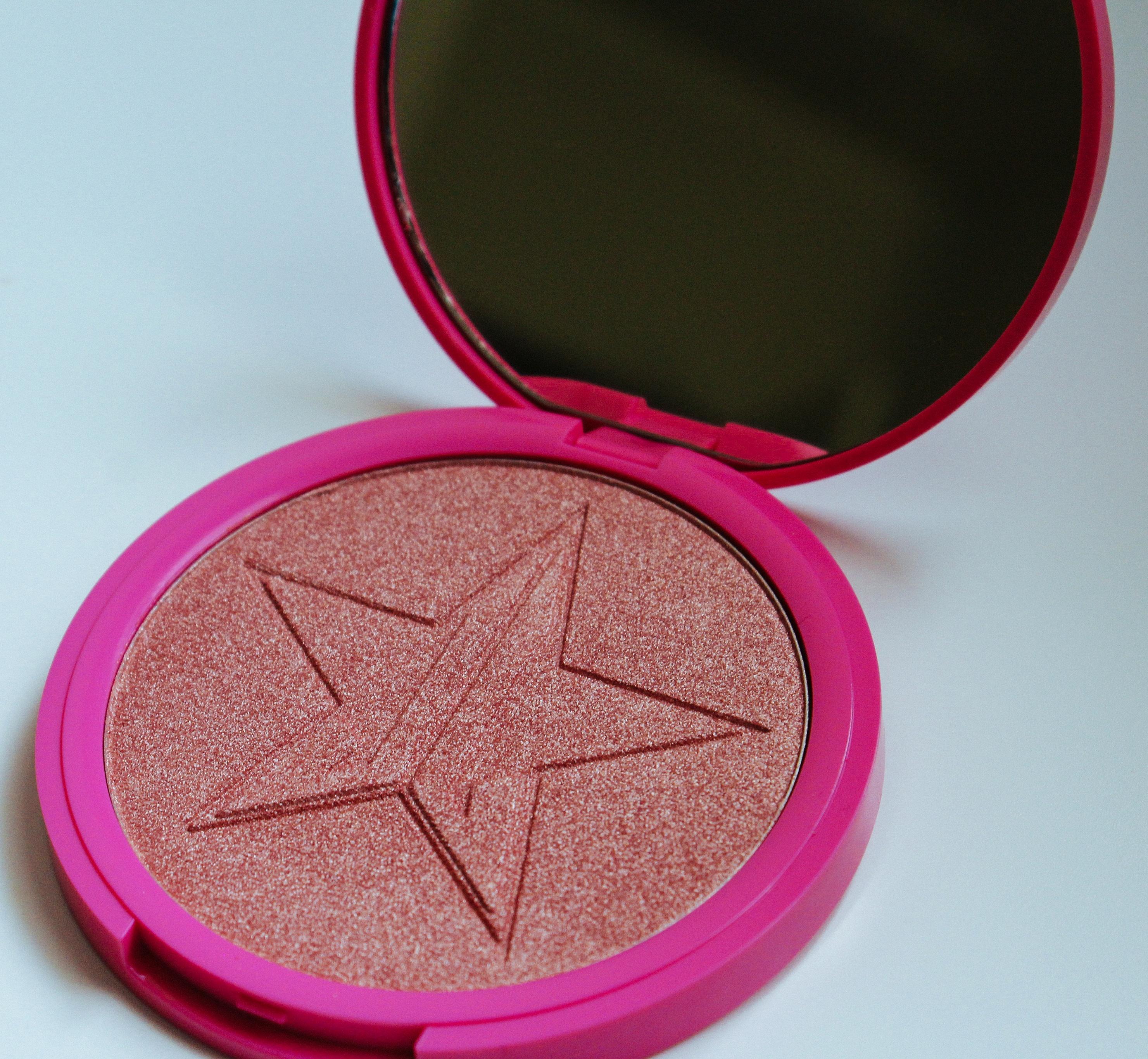 Jeffree Star Cosmetics Skin Frost Highlight On Fleek Cruelty-Free Vegan Cosmetics Jeffree Star Peach Goddess Highlighter