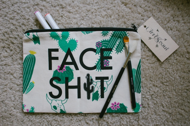 Face Shit GirrlScout Shop Girrl Scout Blog Photographer California Support Local Businesses Limited Edition Makeup Bag blogger Face Shit Bag Best Independent Companies