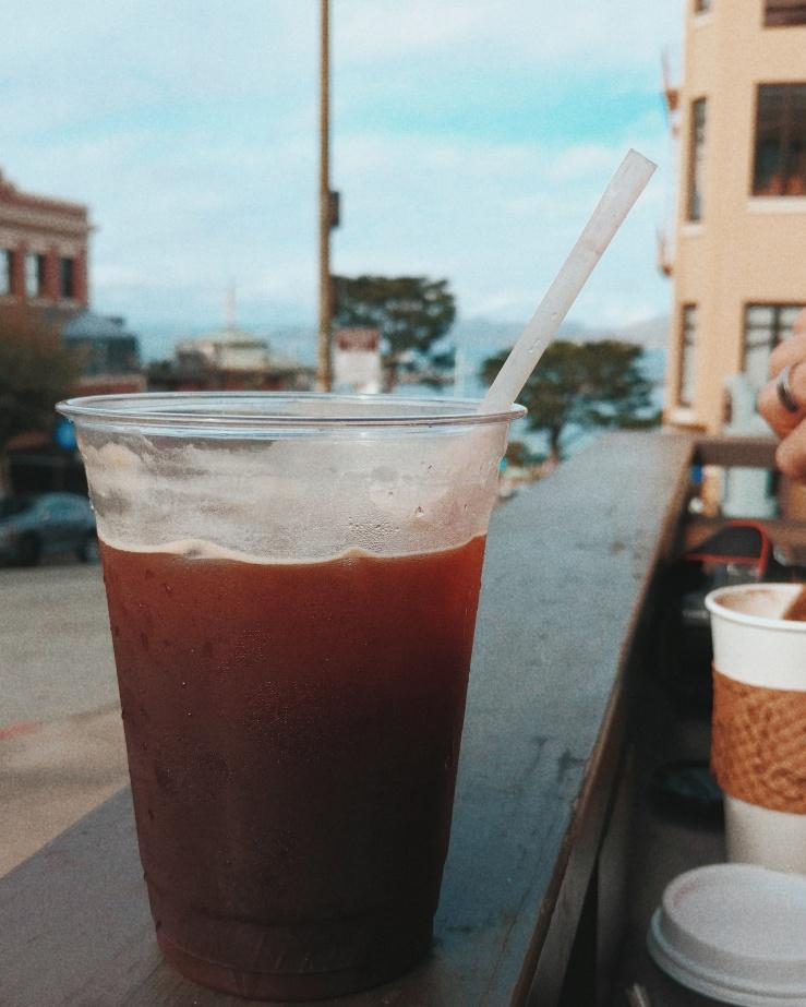Coffee in San Francisco Fisherman's Wharf