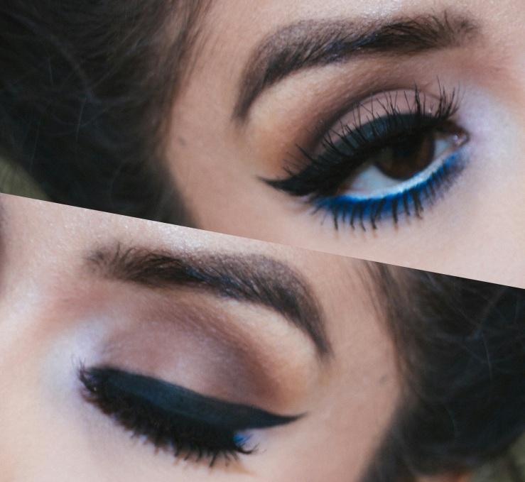 MOTD Makeup Geek Cosmetics blue eyeshadow Koko Lashes Queen B lashes Nyx Cosmetics Ardell Lashes ABH Brow Gel