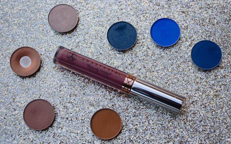 ABH Anastasia Beverly Hills Liquid Lipstick Veronica Makeup Geek Cosmetics Makeup Geek single shadows blue eyeshadow phoenix MUA