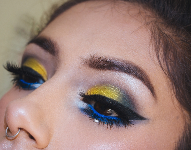 MOTD Makeup Geek ColourPop Koko Lashes ABH Nyx Cosmetics Summer Makeup bblogger MUA Phoenix MUA Northern California Makeup Artist Freelance MUA California MUA cancer season new moon colorful makeup bright makeup Makeup Geek Cosmetics MUG glitter Nyx Chloe Lipstick