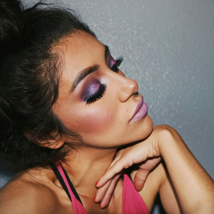 MOTD Makeup Geek Cosmetics Sacramento MUA Sacramento Makeup Artist Glitter Injections Pink Makeup Nyx Total Control Drop Foundation NYC Cosmetics Koko Lashes Summer Makeup Catrice Cosmetics Meet Violeta ColourPop Brills