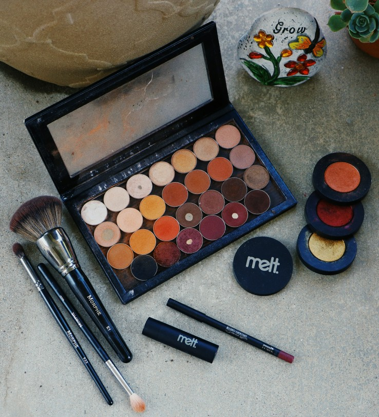 MOTD Makeup Geek Cosmetics Melt Cosmetics Hot Box Collection Melt Haze Melt Ganja 420 Nyx Cosmetics Brows Koko Lashes Goddess Lashes Sacramento Makeup Artist Sacramento MUA Melt Kink